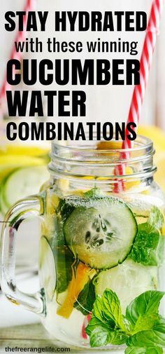 how to make cucumber water to lose weight