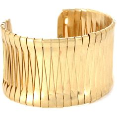 Kenneth Cole New York Gold-Tone Woven Cuff Bracelet ($38) ❤ liked on Polyvore