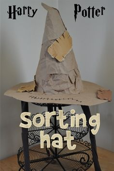 harry potter sorting hat diy paper grocery bag - Google Search
