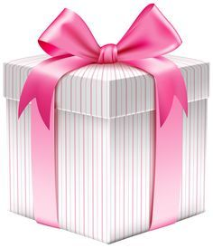 Gift box with bow png clipart image cards borders frames white striped gift box png clipart picture negle Gallery