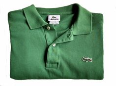 Lacoste Mens Green Short Sleeve Polo Shirt Size 4 (Small) #Lacoste #PoloShirt #Polo #Menswear #MensShirts #Green #Gator #Alligator #Croc #Crocodile #Small #LittleGuys #ForSale #Shopping #eBay #LoveIt #Deal #Bargain