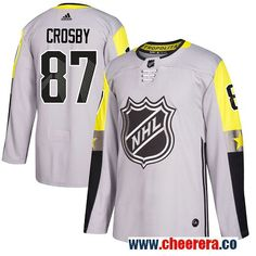 #87 Sidney Crosby Gray Adidas NHL Men\u0027s Jersey Pittsburgh Penguins 2018  All-Star Metro