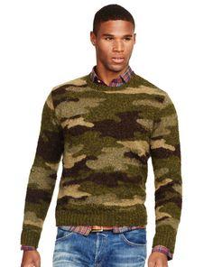 Camo Wool Crewneck Sweater - Polo Ralph Lauren Polo Ralph Lauren - RalphLauren.com