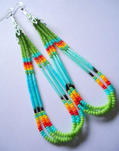 NATIVE AMERICAN-Summer Quill Earrings. $50.00, via Etsy.