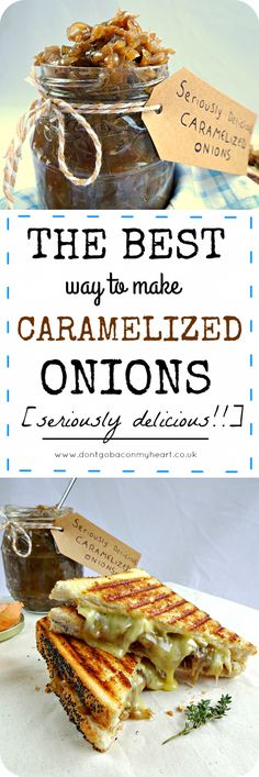 How to make Caramelized Onions in the most delicious way possible. 5 easy but crucial steps result in sweet & sticky caramelized onions every single time! How To Carmalize Onions, Caramelized Onions Recipe, Onion Jam, Chutney Recipes, Best Appetizers, Food Inspiration, Cooking Recipes, Easy Cooking, Sauces