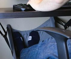 This heated foot hammock that lets you rest up. | 33 Office Supplies That Will Sexually Awaken You