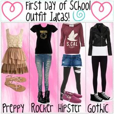 Cute Middle School Outfit Ideas | First Day of School Outfit Ideas - Polyvore
