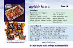 Pero Family Farms®  Vegetable Kabobs--A quick and easy way to cook up several vegetables at one time!