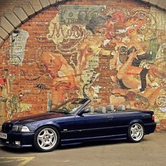 beautiful BMW E36 Convertible with beautiful Mural - Found this on Instagram James7759 - TBT brothers Beemer. Loud, tail happy and great fun @charliewb #BMW #E36