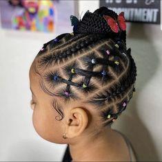 Little Girls Natural Hairstyles, Little Girl Braid Hairstyles, Toddler Braided Hairstyles, Kids Curly Hairstyles, Baby Girl Hairstyles, Little Girl Braid Styles, Little Girl Braids, Braids For Kids, Girls Braids