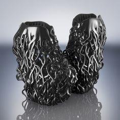 3D-Printed Shoes Iris van Herpen Couture 2013 Rem D Koolhaas, Iris van Herpen www.irisvanherpen.com via unitednude.com  for #form