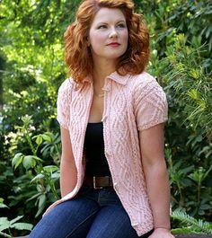 粉色针织短袖开衫 - 蕾妮 - 蕾雨轩