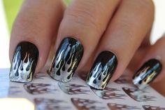 harley davidson gel nail designs - Google Search