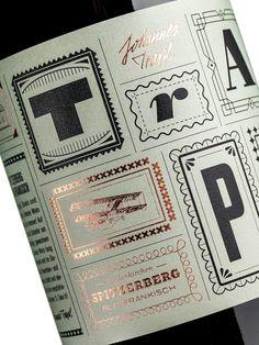 Trapl wine packaging by Typejockeys Tea Brands, Wine Brands, Beverage Packaging, Bottle Packaging, Product Packaging, Wine Label Design, Photography Logo Design, Typographic Logo, Packaging Design Inspiration