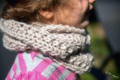 DOUBLE SNOOD ENFANT EN LAINE TRICOTE MAIN / GREGE FILLE : Mode filles par doudou-et-maya