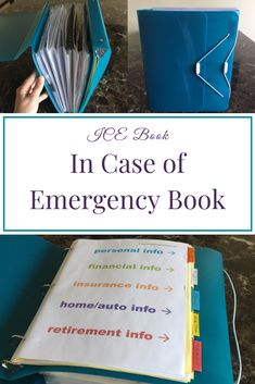 It's never too early to put an emergency preparedness plan for your home together. This In Case of Emergency Book will help you plan ahead for your family. Emergency Preparedness Plan, Family Emergency Binder, Emergency Preparation, Emergency Supplies, In Case Of Emergency, Disaster Preparedness, Emergency Planning, Emergency Preparedness Kit List, Hurricane Preparedness Kit