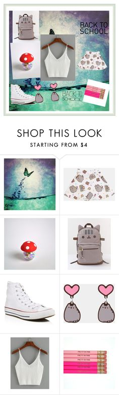 """""""#PVxPusheen"""" by cdonofry ❤ liked on Polyvore featuring Pusheen, Converse, contestentry and PVxPusheen"""