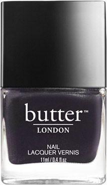 butter London Chocka Nail Lacquer - Opaque, deep plum shimmer