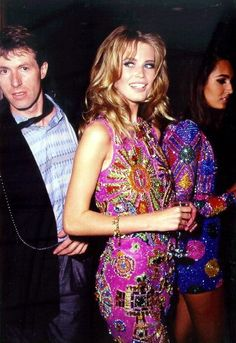 80s-90s-supermodels:  Claudia Schiffer & Gail Elliott, early 90s