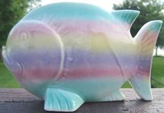 Check out Vintage Colors of the Rainbow Pottery Fish Planter 40s on @eBay http://r.ebay.com/pX0URE