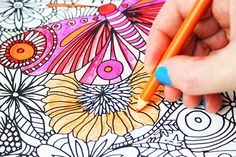 Coloring is one of the best ways to relax, unwind, meditate and de-stress.The process of adding color to my drawings it my favorite step...