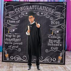 La graduación de la pizarra Photo Booth Prop