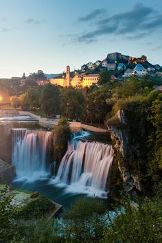Waterfall Jajce, Bosnia and Herzegovina