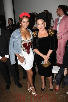Kat Graham and Bette Midler at The Blonds fashion show during Spring 2016 MADE Fashion Week at Milk Studios, NYC.
