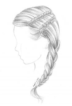167 Best Hair Images On Pinterest Pencil Drawings Sketches And