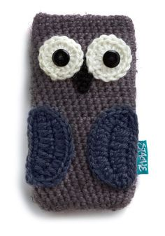 At Your Beak and Call Media Case in Owl - Purple, Black, Grey, White, Owls, Kawaii