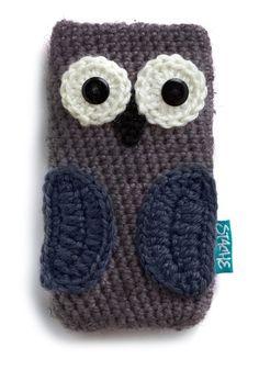 DIY - häkeln - Handyhülle . Cute owl iPhone case // MOM!