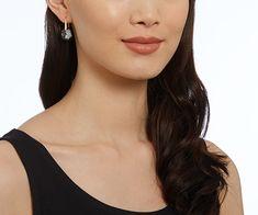 LOVE. Galet Pierced Earrings, Gray, Rose Gold Plating from #Swarovski