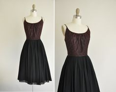 vintage+1950s+dress+/+50s+dress+/+black+lace+by+simplicityisbliss,+$124.00