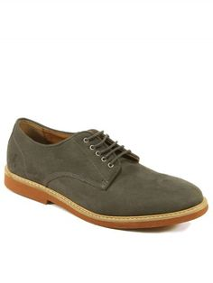Vegan Vegetarian Non-Leather Mens Suede Derby Casual Shoes Grey Shoes