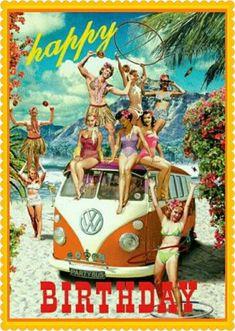Vw Toaster And Kettle.New Volkswagen Camper Van Kitchen . Cool Birthday Cards, Birthday Wishes Funny, Happy Birthday Quotes, Happy Birthday Images, Happy Birthday Greetings, Birthday Messages, Birthday Pictures, Vw Minibus, Happy Birthday Vintage