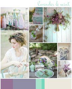Lavender  Mint Wedding Inspiration | Colour - Wedding Inspiration  Ideas | UK Wedding Blog: Want That Wedding