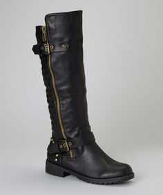 This Black Vivienne Boot by Nature Breeze is perfect! #zulilyfinds