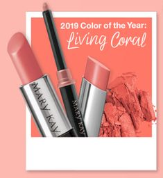 2019 Color of the Year: Living Coral! Get your color of the year products today! #marykay #mk #coloroftheyear #livingcoral