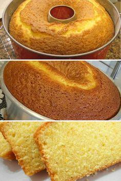 Portuguese Recipes, Sweet Desserts, Cornbread, Vanilla Cake, Ethnic Recipes, Food, Orange Juice Cake, Orange Recipes, Tasty Food Recipes
