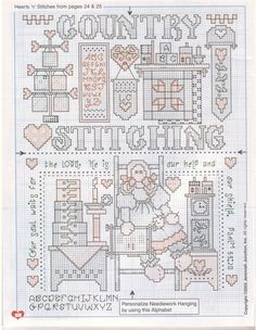 Country - cross stitching