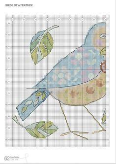 CrossStitcher №292 (June 2015) - Birds  of a Feather Pillows 5/6