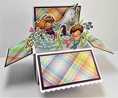 JenniferD's Blog: Lawn Fawn Scalloped Box Card Pop-Up with The Mermaids