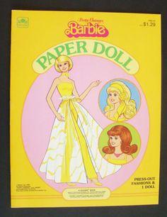 A Golden Book ~ Pretty Changes Barbie Paper Doll ~ Vintage 1981 ~ New Uncut - http://dolls.goshoppins.com/paper-dolls/a-golden-book-pretty-changes-barbie-paper-doll-vintage-1981-new-uncut/
