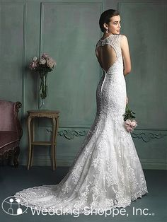 A gorgeous keyhole back. Allure Bridal Gown 9104