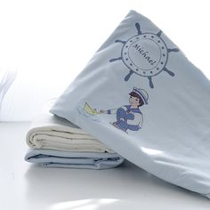 Perfectly personalised baby shower gifts baby caps and other personalized nautical themed duvet set the perfect addition to any baby nursery and crib negle Gallery