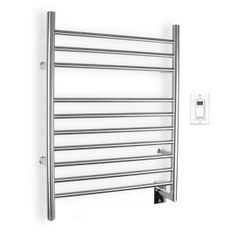 Create a spa environment with this electric towel warmer. Comes with a programmable timer control and an on/off switch for the ultimate in convenience.
