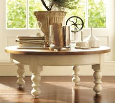love love love this!!! Newberry Round Coffee Table - pottery barn