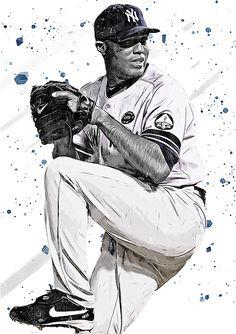 Mariano Rivera by Smh Yrdbk Baseball Wall, Baseball Stuff, Baseball Cards, My Yankees, New York Yankees, Mlb Players, Baseball Players, Sports Art, Digital Art