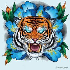«Neojapanese peony tiger head design . #neojapanese #irezumi #neojapanese tattooo #tigertattoo #peonytattoo #irezumiart #orientaltattoo #peony tattoo design #neotraditional tattoo #neotrad design #japanesetattoo #asianink #tiger art Tiger Head Tattoo, Tiger Tattoo Design, Tattoo Designs, Japanese Dragon Tattoos, Japanese Tattoo Art, Samurai Tattoo Sleeve, Sleeve Tattoos, Tattoos Skull, Head Tattoos