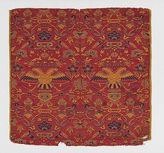 Textile with crowned double headed eagles, 2nd half 16th Century, Chinese for export
